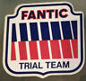 Fantic Trial Team Logo Adesivo vintage autocollant Sticker Auto Motori Moto