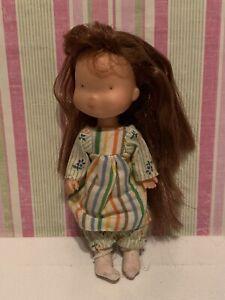Vintage Small Holly Hobbie Plastic Doll KTC Hong Kong dress knickerbocker 75 toy