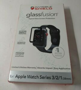 Zagg InvisibleShield Glass Fusion 38mm Apple Watch Series 1 2 3 Screen Protector