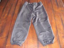 """Youth M Mizuno Black Belted Padded baseball Softball Pants 23.5""""-25.5"""""""