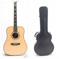 D45 Acoustic Guitar Abalone Inlay Ebony Fingerboard Including Hardcase