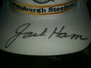 JACK HAM PITTSBURGH STEELERS SIGNED AUTOGRAPHED STEELERS WHITE HAT CAP
