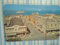 AERIAL VIEW VINTAGE PHOTO POST CARD  DOWNTOWN  PORT ANGELES WASHINGTON
