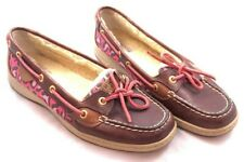 SPERRY Womens Size 8.5M Top Sider Angelfish Boat Shoes Faux Fur Lined Pink