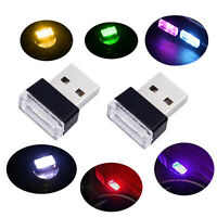 Universal Mini USB LED Car Auto Interior Light Neon Atmosphere Ambient Lamps