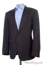 DOLCE & GABBANA Soft Brown Striped Wool Blazer Sport Coat Jacket - 42 S