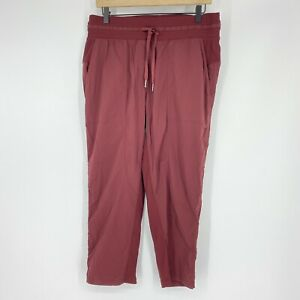 Lululemon Pants Size 10 Womens Maroon Studio Crop Yoga Unlined Dance Drawstring