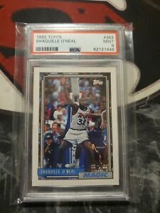 1992-93 Topps Shaquille O'neal PSA 9 Rookie 62121446