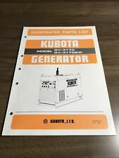 Genuine Kubota Gv3170 Gv3170sw Generator Parts Book Catalog Manual