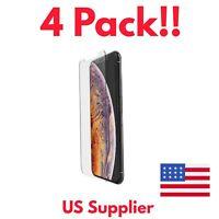 Iphone XS Max 4-Pack BUNDLE Screen Protectors Anti-Fingerprint, Tempered Glass!!