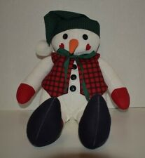 Woodland Snowman Handmade Fabric Doll (NEW)