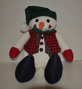 Woodland Snowman Handmade Fabric Doll (NEW)