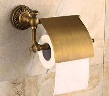 Antique Brass Roll Toilet Holder Wall Mounted Tissue Paper Bracket