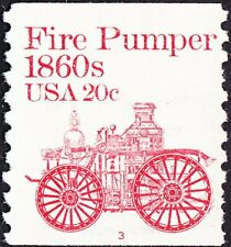 US - 1981 - 20 Cents Vermilion 1860's Fire Pumper Coil Plate #3 Single #1908