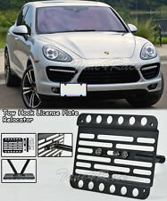For 11-14 Porsche Cayenne 958.1 Front Tow Hook License Plate Bracket Relocator