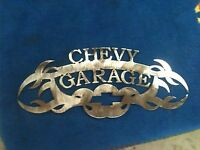 Plasma cut Chevy Garage Metal Wall Art Home Decor