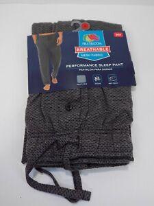Fruit of the Loom Men's Breathable Mesh Performance Sleep Pajama Pant Gray Small