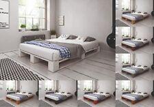 Palettenbett aus Holz Holzbett Massivholzbett Palettenmöbel verschiedene Farben