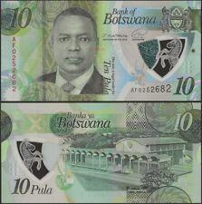 Botswana Pnew B130 10 Pula 2020 ( In 2021) UNC Polymer @ Ebanknoteshop