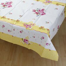Floral Vintage Style Tablecover Paper Tablecloth Tea Party Pretty Flowers