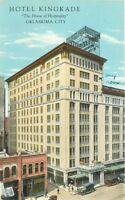 Birdseye View 1920s Hotel Kingade Oklahoma City Teich postcard 9559