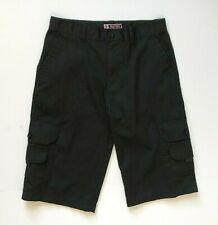 GSUS Women's Cargo Bermuda Shorts, Size 14, Black, GS-115, Polyester/Cotton