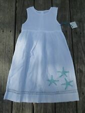 Isola Bella Kids ~ Island Boutique ~ NWT Girls White Starfish Dress ~ Size 4T