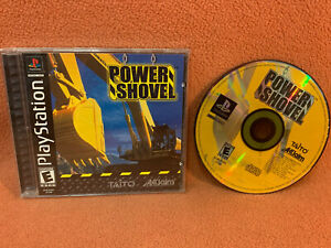 Power Shovel Sony PlayStation 1 PS1 PSOne Black Label Game Complete!