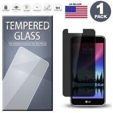 1-Pack PRIVACY Tempered Glass Film Screen Protector For LG K10 2017 Harmony M257
