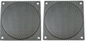 80mm Black Computer Case Fan Mesh Grill / Guard / Filter Medium Hole (Set of 2)