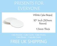 "20 x 10"" Round White Cake Board FREE SHIPPING"
