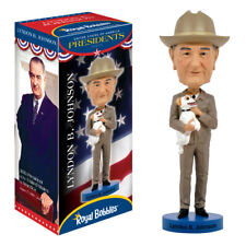 "ROYAL BOBBLES LYNDON B JOHNSON 8"" BOBBLE HEAD FIGURE BRAND NEW IN BOX"