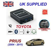 Music Streaming Bluetooth Telephone Toyota Prius Charger 2x USB AUX SD Module 6