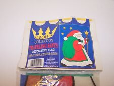 """Decorative Flag Traveling Santa Crown Collection Large 34"""" x 50"""""""