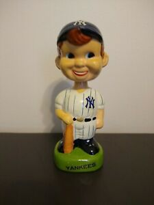 Vintage 1980's New York Yankees Ceramic Bobblehead Nodder MLB