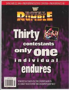 WWF Royal Rumble 1994 Program Yokozuna Undertaker Providence Civic Center WWE