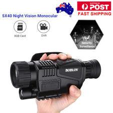 AU 5x40 Zoom Monocular Infrared IR Night Vision Camera Video Photo DVR 8gb