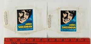 Vintage 1971 (Lot of 2) Bobby Sherman Empty Test Wrapper (Used, one has hole)