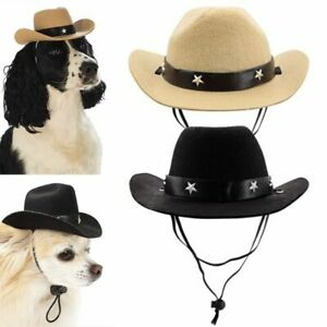 Pet Western Cowboy Hat Party Cosplay Costume Adjustable for Cat Kitten Dog Puppy