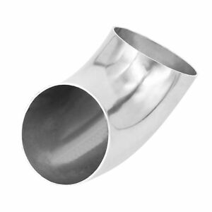 """Exhaust 2.5"""" 63mm Stainless Steel Elbow 90 Degree Pipe Tube Bend Mandrel DP H"""
