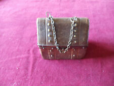 A small leather covered sewing casket/etui
