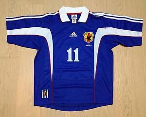 Japan 99-01 Home Football Shirt S/S #11 Kazuyoshi Miura King Kazu三浦知良ミウラカズヨシ