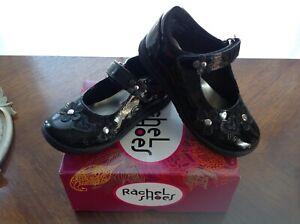 NEW Rachel Shoes AUTUMN 8 Black Patent Leath flower girl Mary Jane Strap toddler