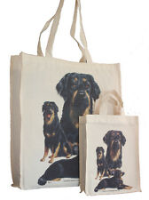 More details for hovawart dog adult & child shopping or dog treats packed lunch etc tote bag