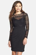 New French Connection Lace Bodice Sheath Dress Size 6 Blac10