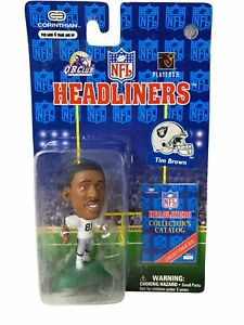 """TIM BROWN  OAKLAND RAIDERS (White Jersey)1997 NFL Headliners Collector 3"""" Figure"""
