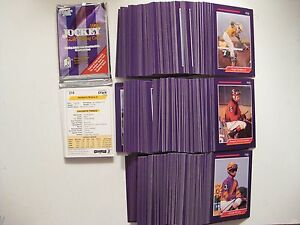 JOCKEY 1992 TRADING CARDS - FULL 300 CARD SET - HORSE RACING