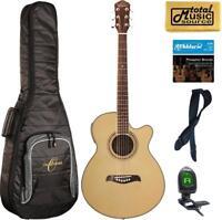 Oscar Schmidt OG10CE Concert-Size Cutaway Acoustic-Electric Guitar - Natural, Ba