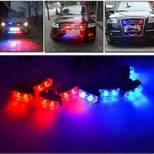 8X 2Led Car Strobe Light Blue Red Fireman Flashing Police Emergency Caution