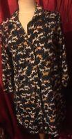 H&M HORSE RIDING EQUESTRIAN PRINT NAVY BLUE LONG SLEEVE SHIRT DRESS UK SIZE 14
